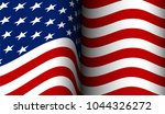 american flag flowing in the... | Shutterstock .eps vector #1044326272