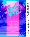 modern retro artistic flyer ...   Shutterstock .eps vector #1044328426
