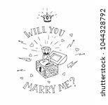 dead man chest whit a wedding... | Shutterstock .eps vector #1044328792