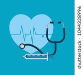 cardio heart design | Shutterstock .eps vector #1044328996