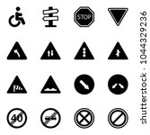 solid vector icon set  ... | Shutterstock .eps vector #1044329236