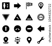 solid vector icon set  ... | Shutterstock .eps vector #1044332722