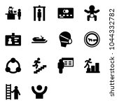 solid vector icon set  ... | Shutterstock .eps vector #1044332782