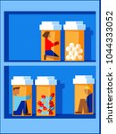 people trapped inside pill... | Shutterstock .eps vector #1044333052