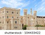 Jerusalem's Hospice of Notre Dame de France.Israel - stock photo