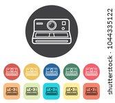 camera icons set. vector... | Shutterstock .eps vector #1044335122
