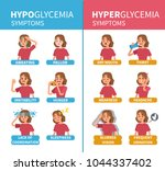 diabetes  hypoglycemia and... | Shutterstock .eps vector #1044337402