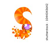 vector one letter c of sea... | Shutterstock .eps vector #1044343642