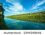 Riverbank Of Calm Danube River...