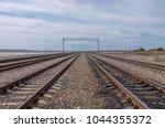 lines of railroad tracks... | Shutterstock . vector #1044355372