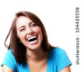 pretty girl smiling and laughing | Shutterstock . vector #104435558