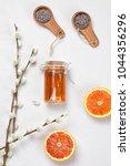 orange and lavender body care...   Shutterstock . vector #1044356296