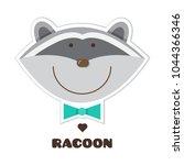 racoon. sticker. vector... | Shutterstock .eps vector #1044366346