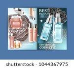 cosmetic magazine design. best... | Shutterstock .eps vector #1044367975