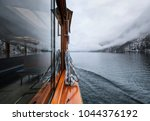 walk on the boat on the lake.... | Shutterstock . vector #1044376192