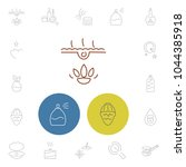 cosmetics icons set with... | Shutterstock .eps vector #1044385918