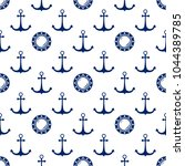 seamless maritime pattern  blue ...   Shutterstock .eps vector #1044389785