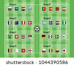 soccer cup 2018 team group and... | Shutterstock .eps vector #1044390586
