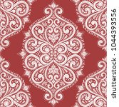 red and white ornamental... | Shutterstock .eps vector #1044393556