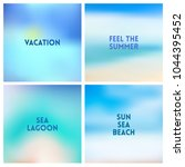 abstract vector beach blurred... | Shutterstock .eps vector #1044395452