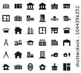 flat vector icon set  ... | Shutterstock .eps vector #1044396352