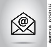 mail envelope vector icon.... | Shutterstock .eps vector #1044396982