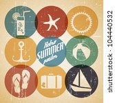 vector summer poster made from... | Shutterstock .eps vector #104440532