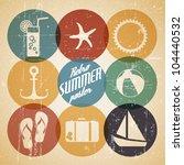 vector summer poster made from... | Shutterstock .eps vector #104440532