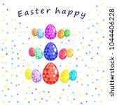 easter happy  easter greeting...   Shutterstock .eps vector #1044406228
