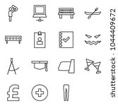 flat vector icon set   father... | Shutterstock .eps vector #1044409672