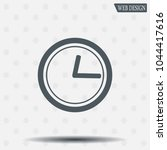 clock icon with shadow on a... | Shutterstock .eps vector #1044417616