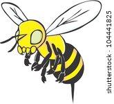 creative bee illustration | Shutterstock .eps vector #104441825