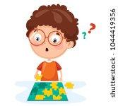 vector illustration of kid...   Shutterstock .eps vector #1044419356