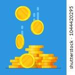coins stack vector illustration ... | Shutterstock .eps vector #1044420295