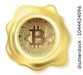 abstract golden seal wax... | Shutterstock . vector #1044424096