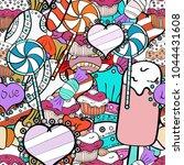 bright seamless confetti party... | Shutterstock . vector #1044431608
