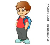 cartoon style character of cute ... | Shutterstock .eps vector #1044435922