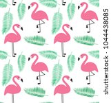 seamless flamingo pattern... | Shutterstock .eps vector #1044438085