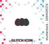 eggs  glitch effect vector icon. | Shutterstock .eps vector #1044439276