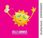 hello summer rock n roll vector ... | Shutterstock .eps vector #1044440605