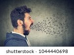 young man with shouting saying... | Shutterstock . vector #1044440698