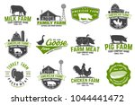 american farm badge or label.... | Shutterstock .eps vector #1044441472