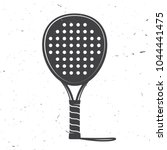 padel tennis racket icon.... | Shutterstock .eps vector #1044441475