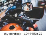 cropped image of new motorcycle ... | Shutterstock . vector #1044453622