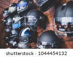 motorcycles and accessories in... | Shutterstock . vector #1044454132