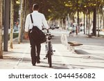 back view of businessman... | Shutterstock . vector #1044456082