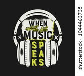 music tee graphic design ... | Shutterstock .eps vector #1044463735