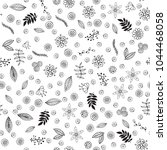floral seamless pattern. plant... | Shutterstock .eps vector #1044468058
