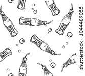 soda drink bottle black and...   Shutterstock .eps vector #1044489055