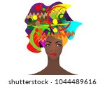 portrait of the young african... | Shutterstock .eps vector #1044489616